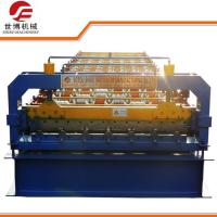 High Power Roof Tile Roll Forming Machine , Tiles Making Machine 8~12m/Min Speed Manufactures