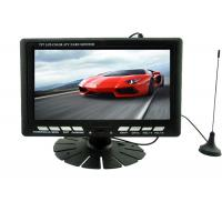 Black Widescreen 7 Inch LCD Monitor VGA Input For Car Advertising Manufactures
