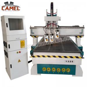 CA-1325 3 heads milling machine cnc with 1300*2500mm/cnc pneumatic head machine 3 spindles cnc machine Manufactures