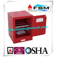 Red Flammable Safety Cabinets 4 Gallon For Chemical Paint And Inks Storage Manufactures