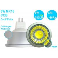 China Ultra Bright G5.3 MR16 LED Ceiling Spot Light 6W COB 580LM CRI80 Cool White Manufactures