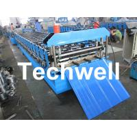 Metal Automatical Roof Panel Cold Roll Forming Machine with 0 - 15 m/min Speed Manufactures