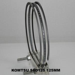 China Auto Komatsu Small Engine Piston Ring Set 125MM , Air Compressor Gapless Piston Rings on sale