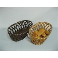 Well-designed Weaving Hollow PP Pollution Rattan Fruit Basket For Bakery Manufactures