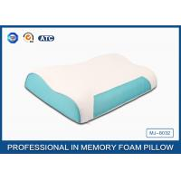 Wave Memory Foam Contour Pillow , Orthopedic Sleeping Pillow With Zipper Cover