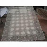 China Crochet Tablecloth, Various Colors are Available, Made of Polyester on sale