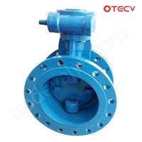 Ductile Iron Eccentric Butterfly Valve, Flanged, DN150 TECV Manufactures