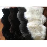 Real Australia Sheepskin Prayer Rug Grey Black dyed Lambskin Long Wool Rug Manufactures