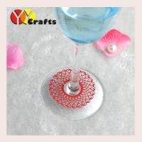 Laser cut paper fence design wine glass decoration for wedding party Manufactures