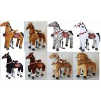 Lovely Amusement Park Equipment Mechanical Pony Kid Ridding On Walking Animal Manufactures