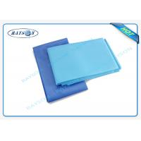 Hydrohobic spun bonded non woven Disposable Bed Sheet with PE film for patient Manufactures