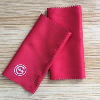 China 8 * 15 Cm Microfiber Cleaning Cloth , Printed Logo Lens Cleaning Cloth on sale
