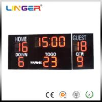20 Inch Large Red Digits Electronic Soccer Scoreboard For Outdoor CE / ROHS Manufactures