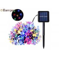 50LED Solar Powered Outdoor String Lights , Waterproof Solar Christmas LightsCherry Floral Decoration Manufactures