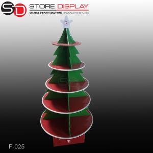 custom corrugated cardboard chrismas tree shape floor display stand Manufactures