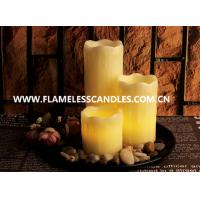 3 PCS Flameless Wax Dripping Votive Set With Rock And Tray Manufactures