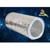 HVAC System Aluminum Foil / Fiberglass Flexible Insulated Duct Customized Manufactures