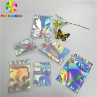 Transparent Front Foil Packaging Bags Holographic Smell Proof Heat Seal Recyclable Manufactures