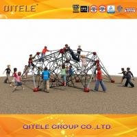 QITELE Kids Climbing Net / Climbing Walll Structure With Galvanized Post In Small Size Manufactures