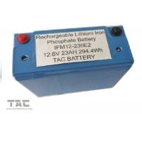 Blue 12V LiFePO4 Battery Pack 26650 23AH With Housing UL2054 For Sloar Lighting Manufactures