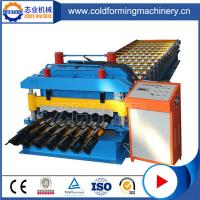 Cangzhou Steel Plc Controlling Aluminium Glazed Roof Tile Forming Machine Manufactures