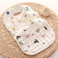 Dyed Premium Muslin Newborn Baby Bibs Absorbent Existing Pattern Eco Friendly for sale