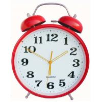China Colourful Heart design plastic twin-bell alarm clock on sale