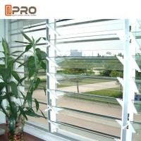 Quality Adjustable Ventilation Tempered Glass Jalousie Louvre Windows High Security for sale