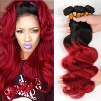 3 Bundles Weave Ombre Real Hair Extensions Remy Hair Last Long Time For Girl Manufactures