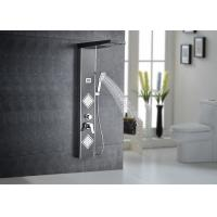 Multi Functions Thermostatic LED Shower Panel Black Painting ROVATE 8220-2 Manufactures