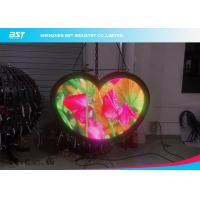 Heart Shape Flex LED Panel / Ultra Thin Flexible Display Screen 1000nits Manufactures