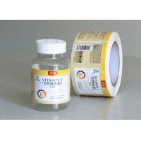 Private Tablet Pill Strong Adhesive Labels , Sticker Labels For Bottles Manufactures