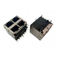 Quality Industrial Grade 2x2 RJ45 Ethernet Jack , Female Connector RJ45  SGS Certificated for sale