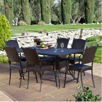 7 PCS Resin Wicker Pub Height Dining Table Sets Outdoor Patio Wicker Furniture Manufactures