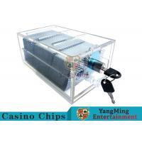 Acrylic Casino Game Accessories Dealers Card Holder For 6 Decks Playing Cards Manufactures