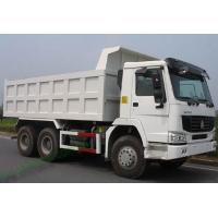 China HOWO 266hp dump Truck / tipper truck fuel tank 300L with 16.5m3 cargo box volume on sale