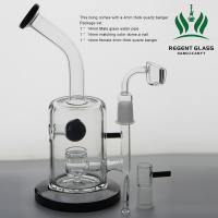 Toro Glass Oil Rig Bubbler Black Jet Perc Thick Water Pipes Heady Bongs Dab Rigs Manufactures