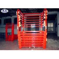 China Truck Tyre Storage Rack Pallet Heavy Duty Metal Steel Fixed / Removable on sale