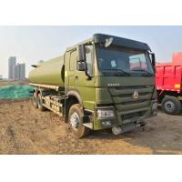 15CBM Fuel Oil Tanker Truck 336HP For Army Use , Fuel Oil Delivery Trucks Manufactures
