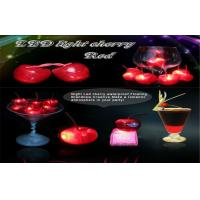 Waterproof Led Ice Cube Lights Flashing Cherry Fruit Powered By 3pcs AG3 Cell Battery Manufactures