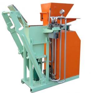 China Hydraulic Interlocking Small Clay Brick Making Machine , Automatic Brick Making Machine 1500(L)×600(W)×1400(H)mm on sale