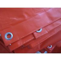 China 200D*300D /18*12 / 390G/SQ.M / Orange color PVC tarpaulin sheet on sale