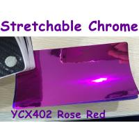 China Stretchable Chrome Mirror Car Wrapping Vinyl Film - Chrome Rose Red wholesale