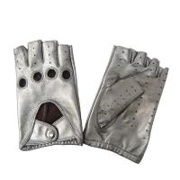 Customized Leather Shearling Gloves With Hole Plain Fashion Style OEM Manufactures