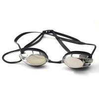 Professional Black Racing Swimming Goggles With Back Locked Strap For Adult Manufactures