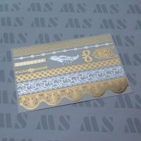 Metallic gold tattoo sticker, Gold foil temporary tattoo Manufactures