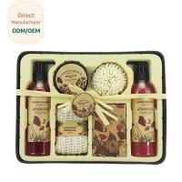 China Relaxing Bath Gift Sets Red Rose Flower Scent Volume 225ml 325ml 400ml on sale