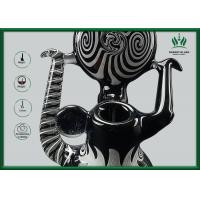 Quality Borosilicate Glass Recycling Hookah Tube 9mm With Black And White Color for sale