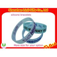 Promotional personalized  silicone bracelets 100% high quality silicon material Manufactures