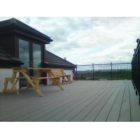 China Recyclable WPC Deck Flooring , Wood Plastic Composite Decking Lumber on sale